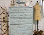 Painted Cottage Chic Shabby French Dresser CH703