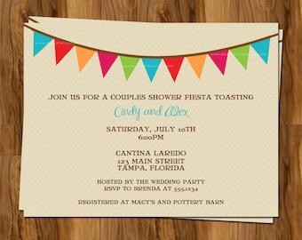 fiesta party or shower invitation wedding bridal shower invite digital ...