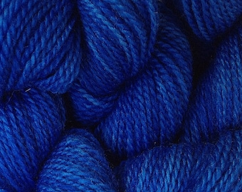 Merino Wool Yarn Lace Weight in True Blue Hand Painted