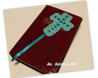 Cross Bookmark Crochet Pattern - PDF Pattern 469