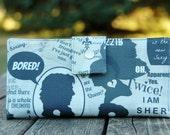 Sherlock fan gift, sherlock wallet, womens wallet, geek gift, geek fan gift, wallet for women, wife gift idea, travel wallet, wallet clutch