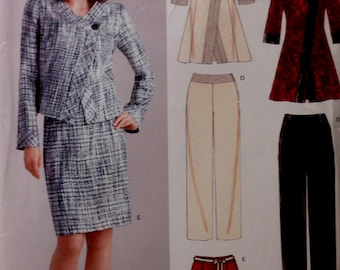 Chic Wardrobe Sewing Pattern UNCUT New Look 6632 Sizes 10-22 jacket pants skirt