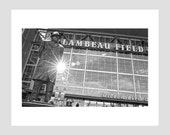 vince lombardi green bay packers coach nfl football wisconsin labeau field black and white travel poster photo-graphic art print