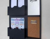 Message Center - Mail Organizer - Cork Board - White Board - Key Hooks - Wood - Wall Hanging - Mail Holder - Letter Holder - Entry Way