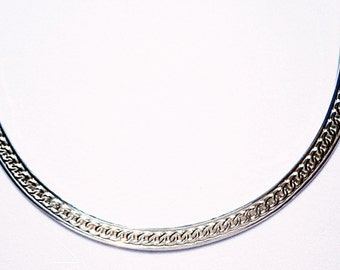 Hand Forged Sterling Silver Scroll Neck Collar Necklace