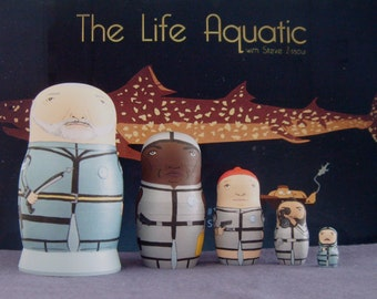 The Life Aquatic with Steve Zissou Scuba Version Matryoshka Dolls