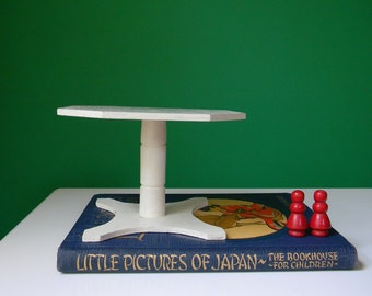 Vintage White Wooden Doll Table