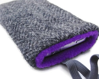 iphone 6 Case / HTC  / Samsung S4 S5 /Harris Gray Tweed / Sleeve