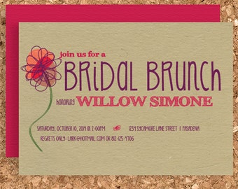DIY Floral Bridal Brunch Invitation (Printable Bridal Shower Invite)