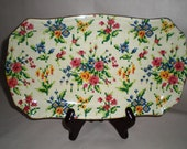 Sale! English Chintz Tray Royal Winton Grimwades Chintz 'Queen Anne' Tray - 1930's