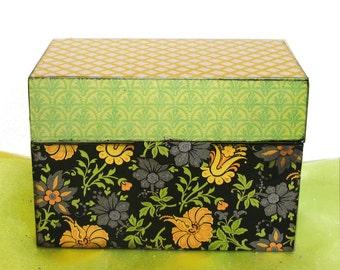 Recipe Box Lemon Verbena Personalized Wood Wooden