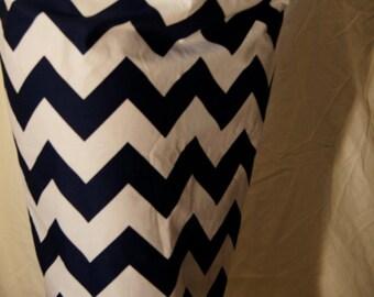 Perfect Pencil Skirt Blue & White Chevron Print