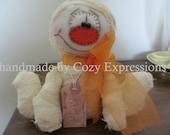 Primitive Halloween Mummy doll | Halloween Decoration | All Hallows Eve decor | Wreath embellishment | Folk art Halloween