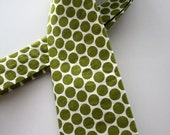 Little Guy Holiday Christmas Necktie- Olive and Cream Polka Dot - (2T-4T) -  Boy Toddler- (Ready to Ship)- St Patrick's Day