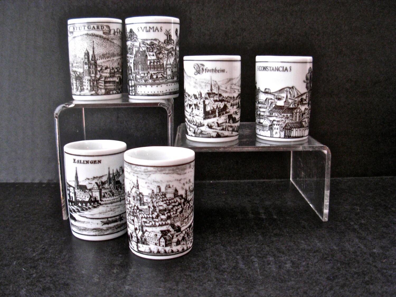 Vintage Altenkunstadt German Porcelain Corked Decanter And 6