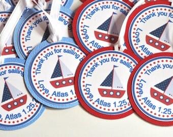 Sailboat Favor Tags set of 12