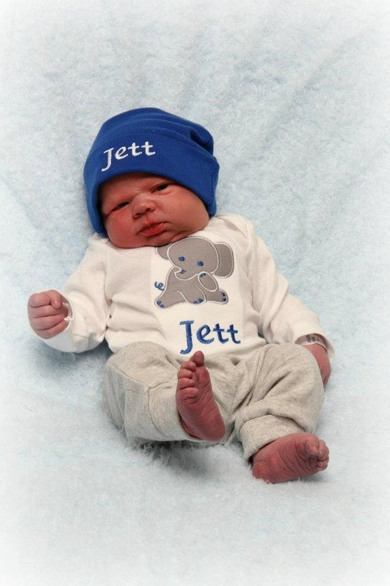 Baby Gift Set Zwitsal : Personalized baby boy gift set bodysuit and hat