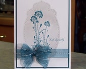 Handmade Sympathy Card - Stampin Up Serene Silhouettes