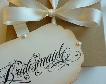 Will you be my bridesmaid / maid of honor invitation, Bridal Party Attendant Keepsake