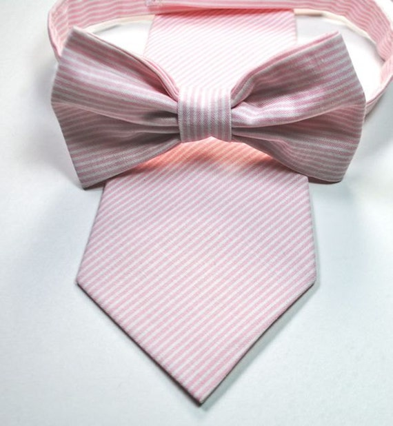 items similar to blush pink cotton mens neckties and bow