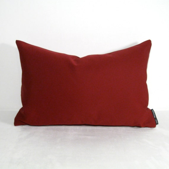 Burgundy OUTDOOR Pillow Cover Modern Pillows Wine by Mazizmuse