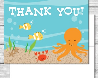 Thank you Notes---Under the Sea Party--510S