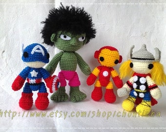 A TEAM Set - PDF amigurumi crochet pattern