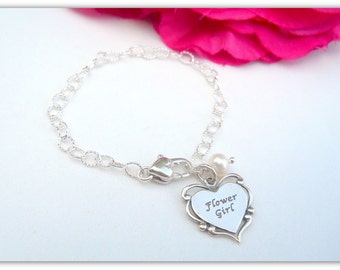 Flower Girl Bracelet All Sterling Silver B230