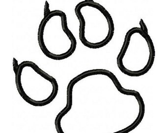 Panthers Paw Print Embroidery Machine outline Design 4353 INSTANT DOWNLOAD