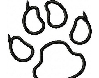 Panthers Paw Print Embroidery Machine Applique Design 4030 INSTANT DOWNLOAD