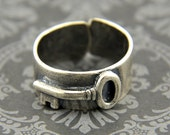 Skeleton Key Ring - Sterling Silver