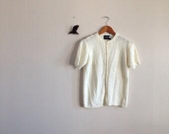 Knit Winter white Cardigan