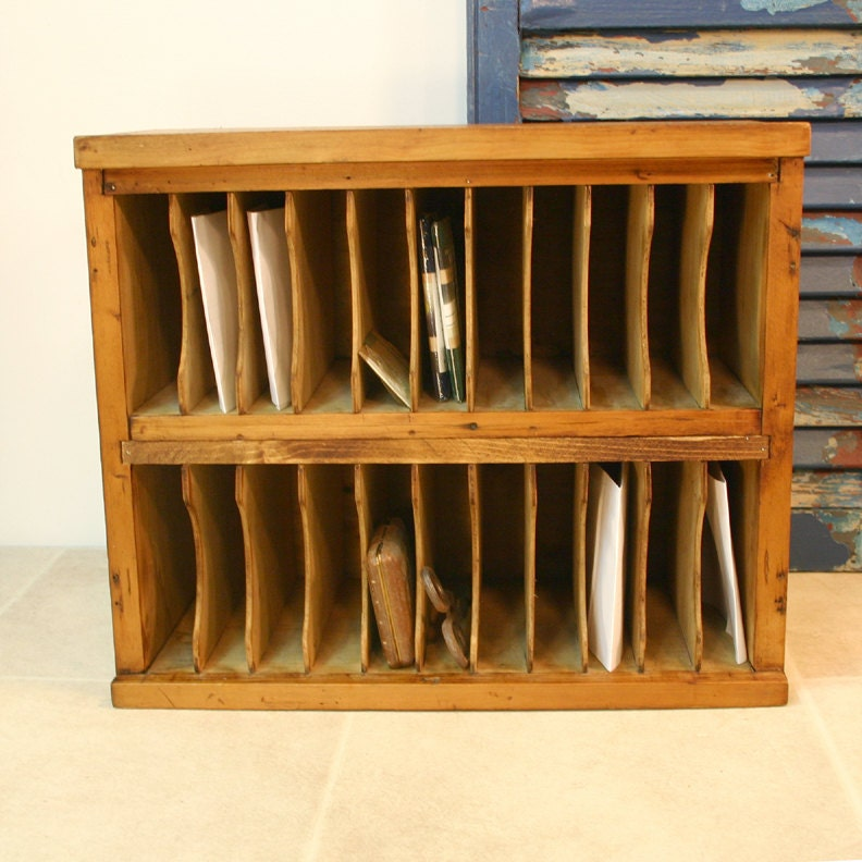 Reserved hotel mail cubby cabinet vintage mail organizer - Vintage hotel key rack ...