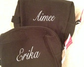 Set of 6 BRIDESMAID Gifts COSMETIC Bags Personalized Monogrammed Bag - Custom Embroidered