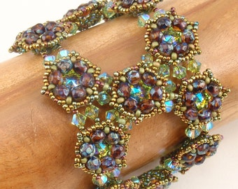 Beading Tutorial for Morning Dew Bracelet  3 Versions, jewelry pattern, beadweaving tutorials, instant download, PDF