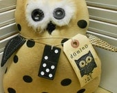 Domino The Owl Pattern Primitive Owl Pattern INSTANT DOWNLOAD Very Easy to Make HAFAIR