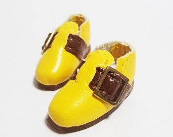 Yellow Casual Buckle Shoes for BJD Dolls Lati Yellow, PukiFee, Riley Kish, Bobobie Nissa, DIM Silf, Dollk S00068E