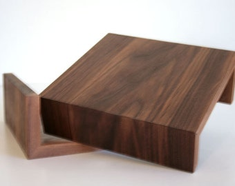 Couch Arm Wrap. Sofa Wrap. Organic Modern Arm Rest in Walnut Wood. Made to order. Living.