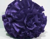 violet round pillow,round cushion,homedecor,housewares,handmade pillow , throw pillow,pouf,shabby chic,retro, circle pillow,bedroom
