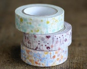 Japanese Washi Masking Tape - Butterfly in Bush Blue, Green or Purple (Choose one)