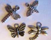 I Love Bugs charm set insect theme