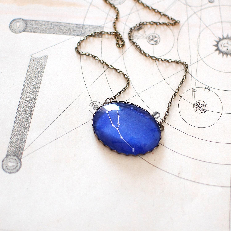 Taurus Zodiac Necklace. Taurus Constellation Necklace. Taurus