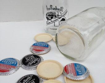 Vintage collectible glass milk bottles