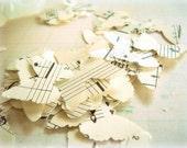 Vintage Paper Butterflies / 500 Pieces / Party Confetti / Vintage Music
