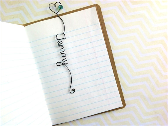 Personalized Wire Bookmark