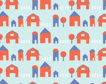 Organic Cotton Fabric-monaluna -Free Range- little farm - low shipping