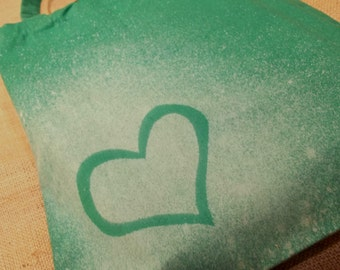 Medium Green Heart Tote