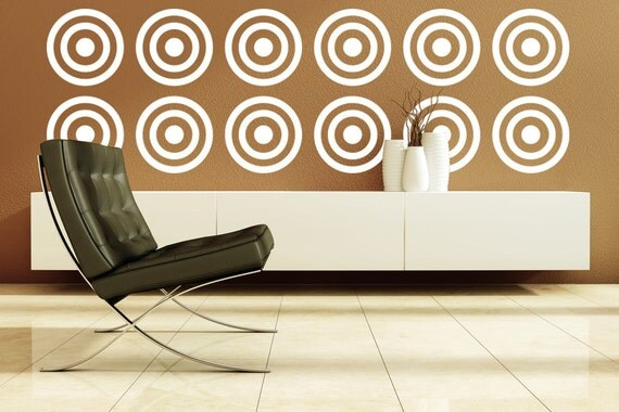 Wall Art Decals Target : Items similar to circle wall decal vinyl circles target