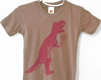 Dinosaurs, Funny T-shirt, T-Rex Shirt, infant, Brown, size 6-12 months, SALE