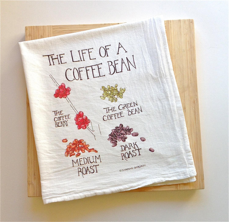 Flour Sack Tea Towel 100% Cotton Watercolor By ChavahsGarden
